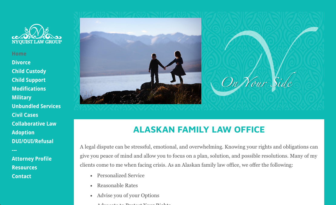 Nyquist Family Law website