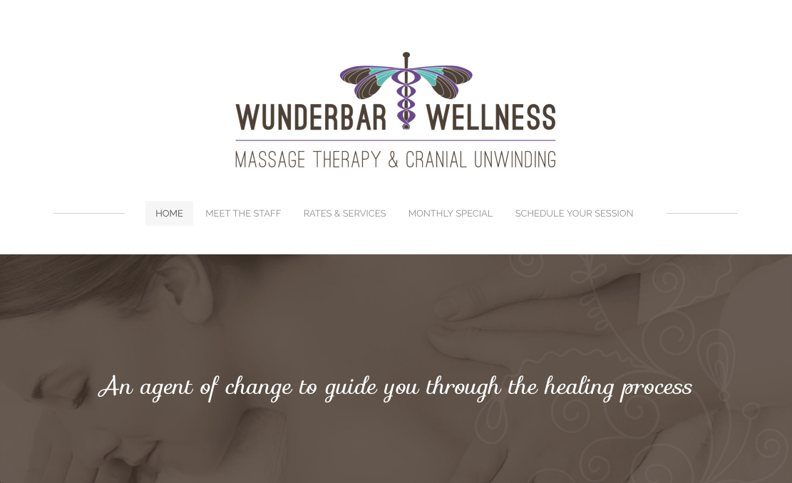 Wunderbar Wellness website